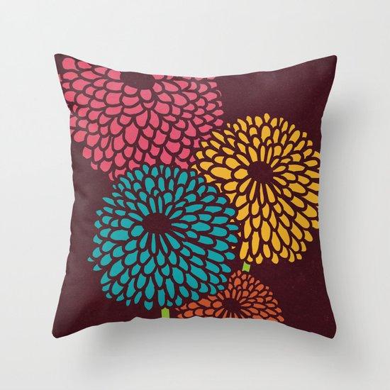 Still Life Chrysanthemum Throw Pillow