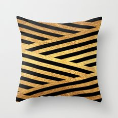 Gold and Black Throw Pillow