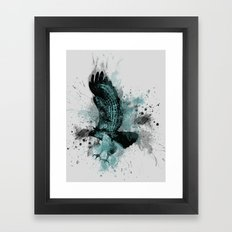 HAWK DIVE Framed Art Print