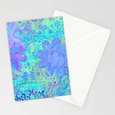 3D Pastel Flower Psychedelic  Stationery Cards