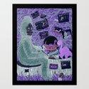Sasquatch Hearts Nessie Art Print