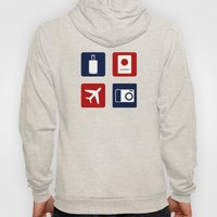 Travel Icons in RWB Hoody