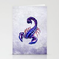 Purple scorpion Stationery Cards
