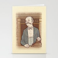 wes anderson Stationery Cards featuring Monsieur Ivan or Bill Murray on The Grand Budapest Hotel from Wes Anderson by suPmön