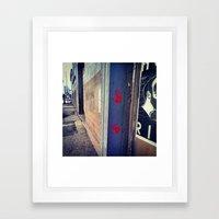 Red Hands Framed Art Print