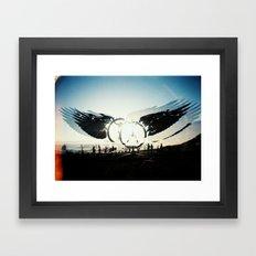 Fly High to the Sky Analog Zine Framed Art Print
