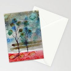 waxing crescent.one Stationery Cards