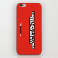 BEARDS SEPARATE THE MEN FROM THE GOATEES. iPhone & iPod Skin