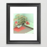 Three Eyed Dog Framed Art Print