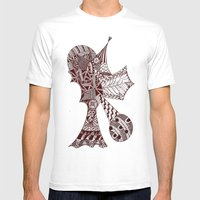 Vertical Mens Fitted Tee White SMALL
