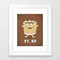 Coffee Cake Framed Art Print