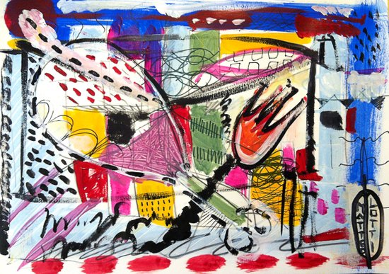 Pollo in salamoia Art Print