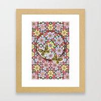 In the Garden of Love Mandala Framed Art Print