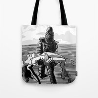 Black Lagoon (B&W)... Tote Bag