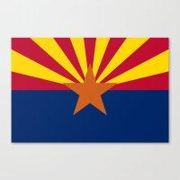 Arizona State Flag, Auth… Canvas Print