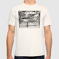 No Way Out Mens Fitted Tee Natural SMALL