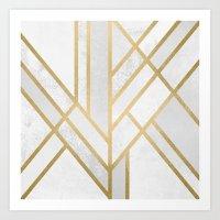 Art Deco Geometry 2 Art Print