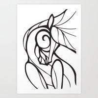 Horse Swirls 2 Art Print