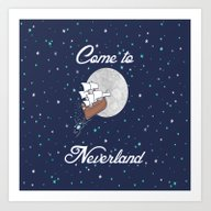 Peter Pan Neverland In N… Art Print