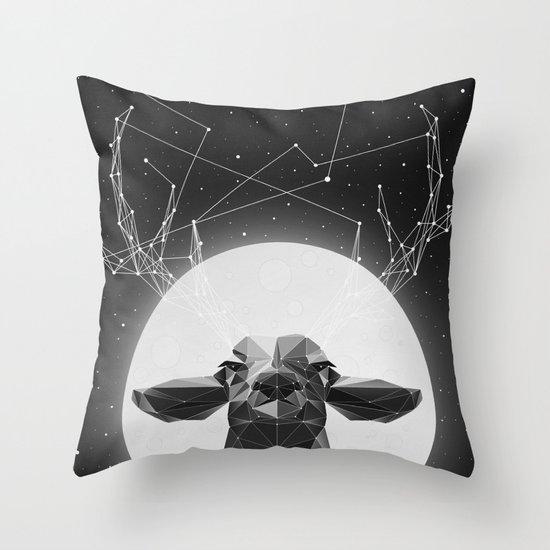 The Banyan Deer Throw Pillow