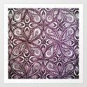 Purple Zen Bliss Art Print
