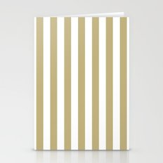 Vertical Stripes (Sand/White) Stationery Cards