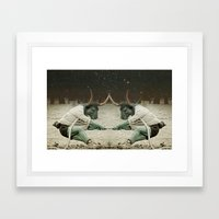locking horns under Taurus Framed Art Print