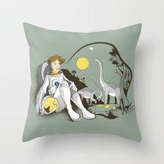 The Time Traveler Throw Pillow