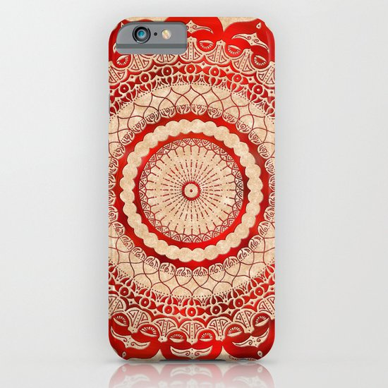 omulyána red gallery mandala iPhone & iPod Case