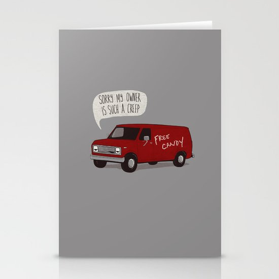 Creeper Van Stationery Card