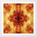 Faces in Flames Art Print