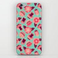 flat flowers - pattern iPhone & iPod Skin