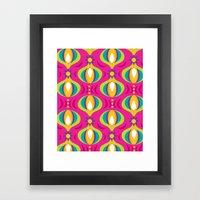 Oohladrop Fuschia Framed Art Print