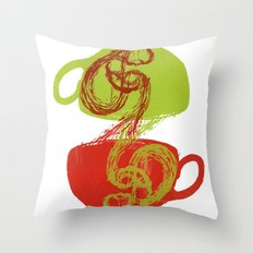 Coffee and tea time Throw Pillow