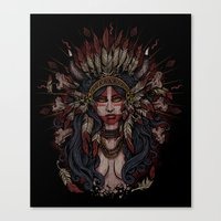 War Paint - Finished Canvas Print
