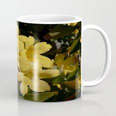 Yellow Carolina Jasmine Blossom Close Up Mug