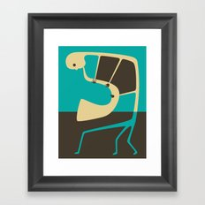 Blues' Sax Framed Art Print