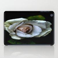 white rose iPad Case