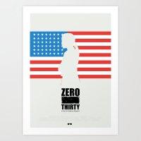Zero Dark Thirty - Minim… Art Print