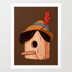 Woodpecker´s house Art Print