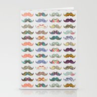 Stationery Cards featuring Mustache Mania by Bianca Green