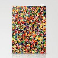 Star Cubes Geometric Art Print. Stationery Cards
