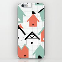Birds And Houses iPhone & iPod Skin