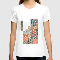 TETRIS Womens Fitted Tee White SMALL