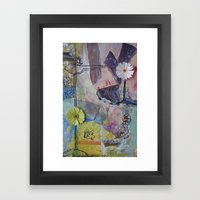 Flower Montage Framed Art Print