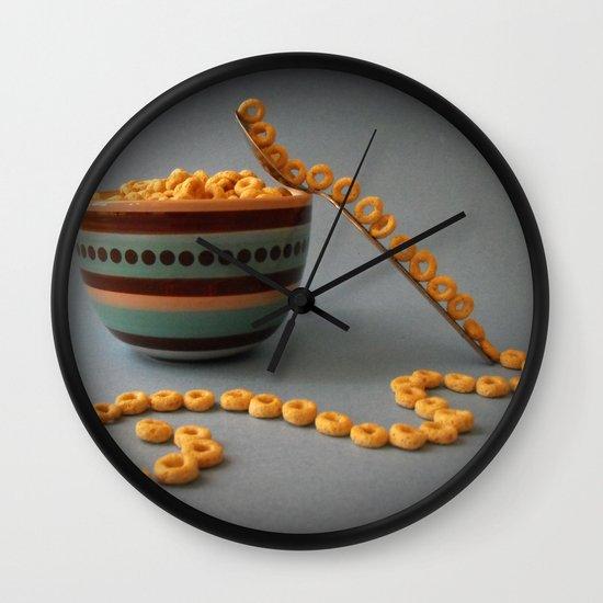 Balanced Breakfast Wall Clock by Skye Zambrana | Society6