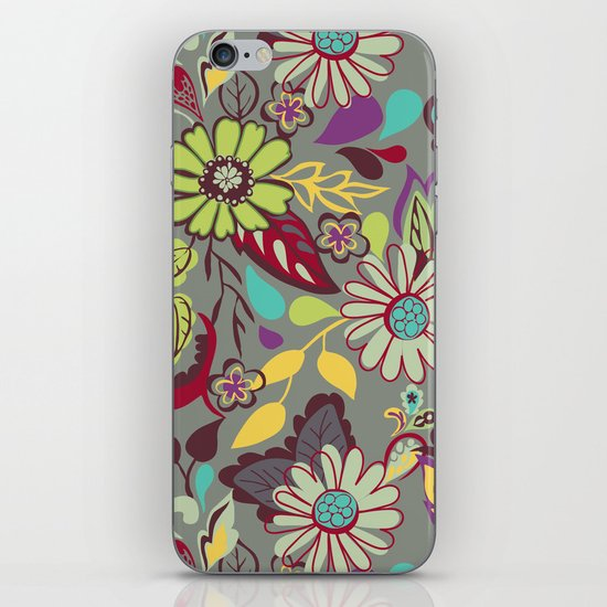 Large Bright Blooms iPhone & iPod Skin