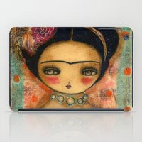 Frida In A Red And Teal Dress iPad Case