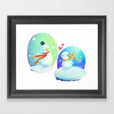 No love like snow love Framed Art Print