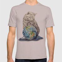In Which Our Feline Deit… Mens Fitted Tee Cinder SMALL